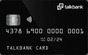 "Дебетовая Карта TalkBank ""black card"""